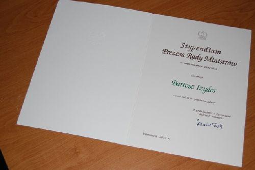Stypendium Prezesa Rady Ministrów 2009
