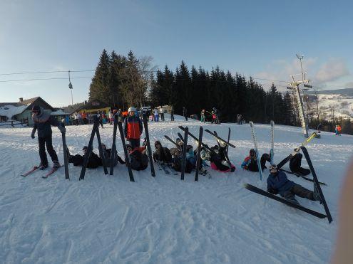 na nartach w Bozkowie