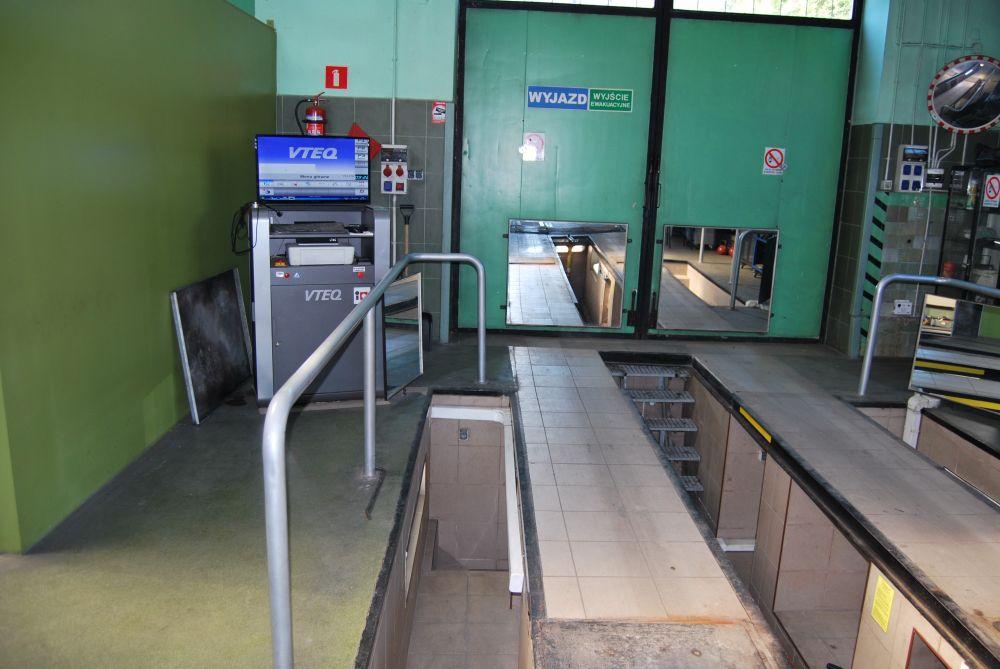 stanowisko pomiarowe stacji kontroli pojazdów widok 2